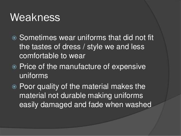 Why is it important to wear uniform in school?