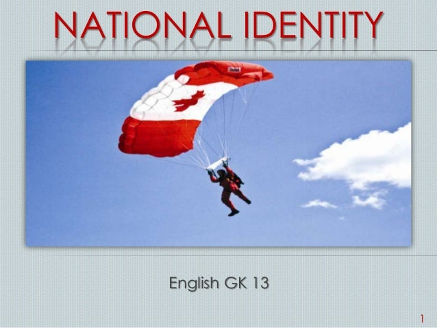 NATIONAL IDENTITY English GK 13 1