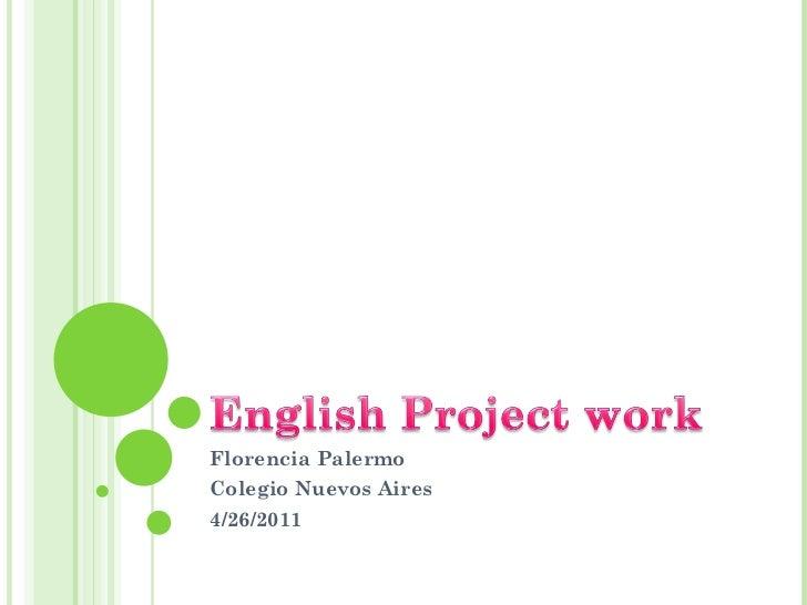 Florencia Palermo Colegio Nuevos Aires 4/26/2011