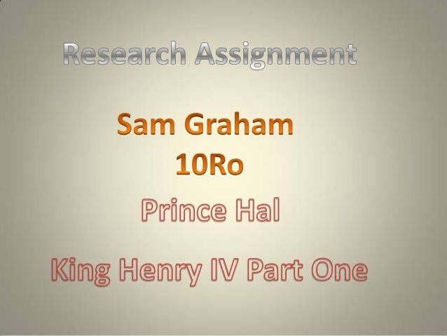 General Background Information.•   The play is King Henry the IV Part 1.•   Historical Play.•   Set in England in the year...