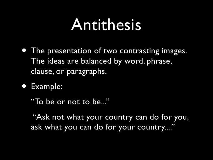 antithesis in rhetoric