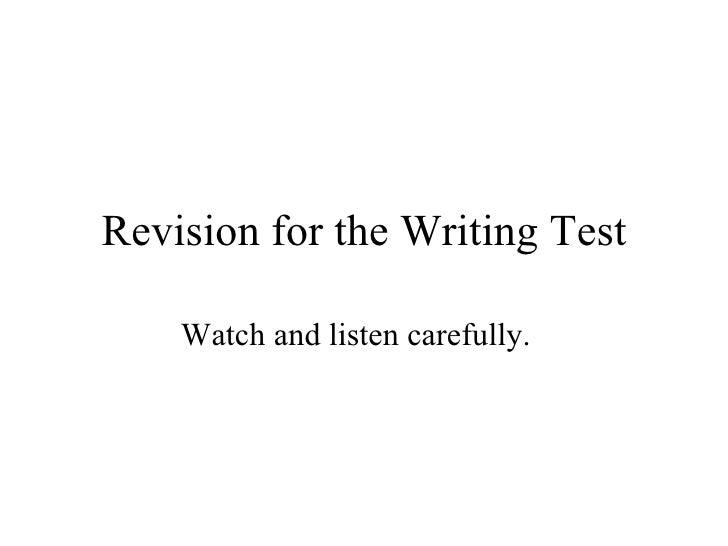 English sats writingtest