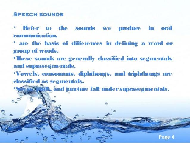 Speech on english