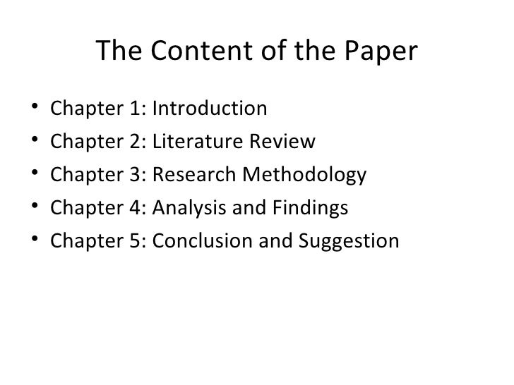 thesis chapter 5 introduction The same rules apply to writing a proposal, a thesis, a dissertation, or any business research report chapter i - introduction introductory paragraphs.