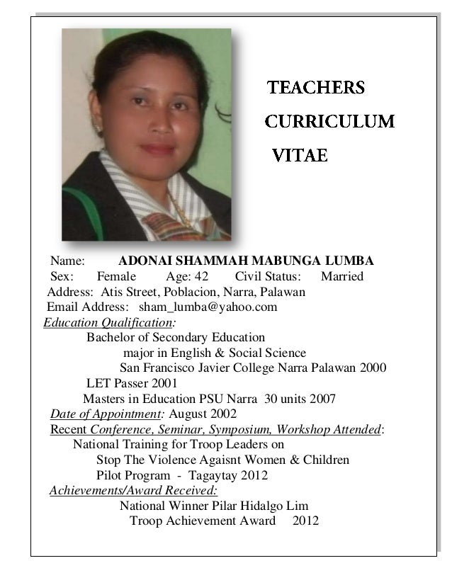 english teachers profile