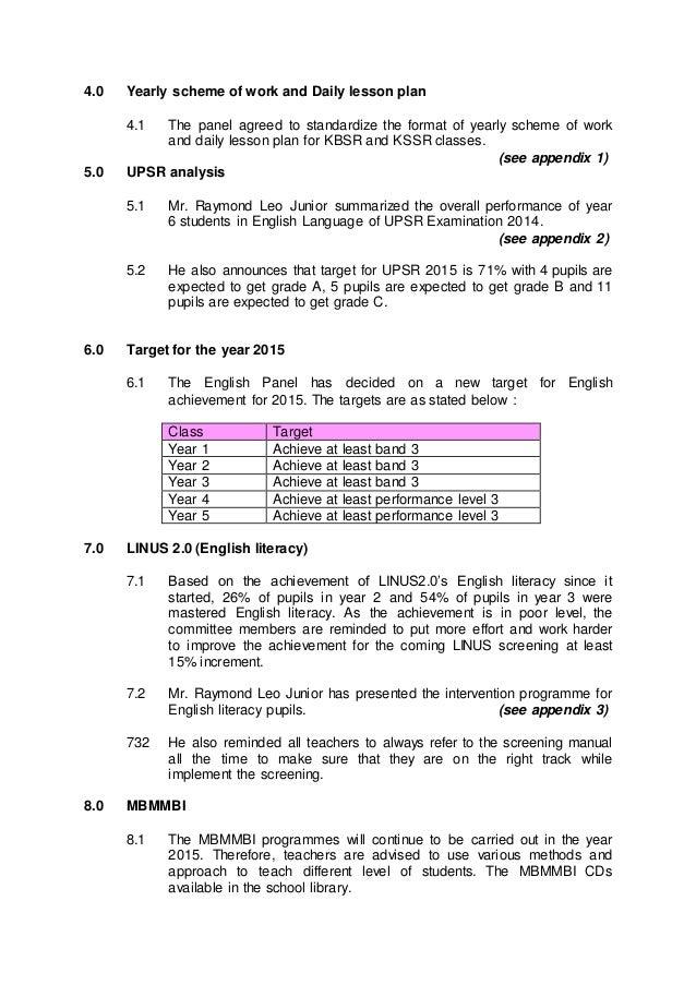 English Unit Meeting Minutes 1 2015 . Meeting Minutes Format