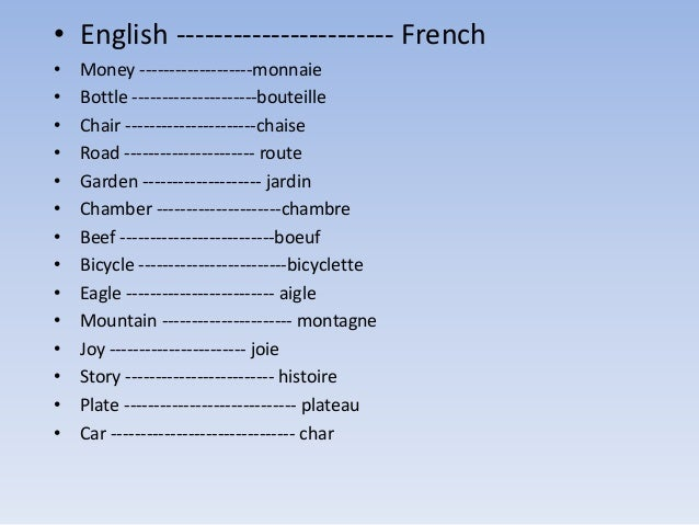 eng424 14 english words originally borrowed from french