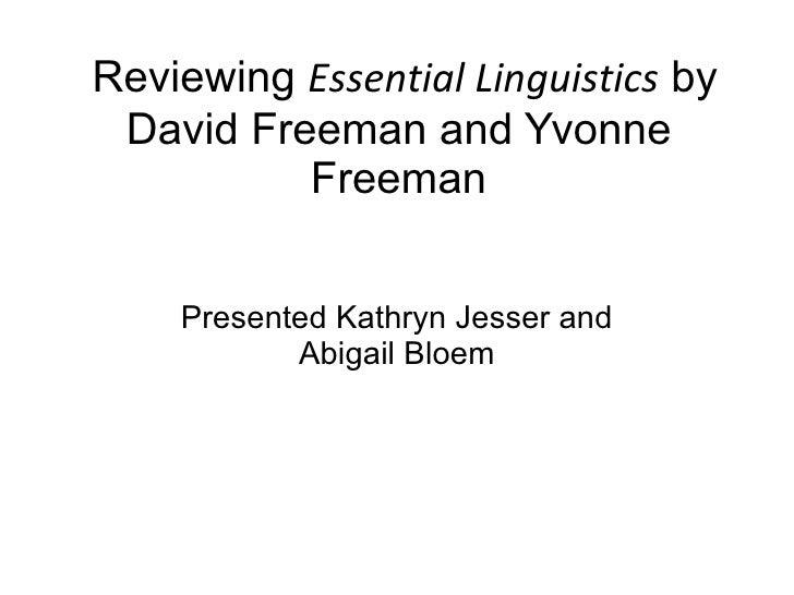 Essential Linguistics Book Presentation