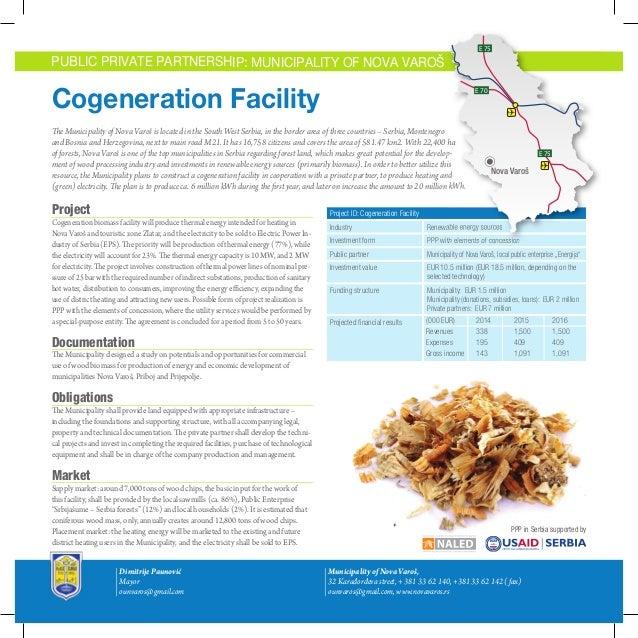 E 75  E 75  E 75  PUBLIC PRIVATE PARTNERSHIP: MUNICIPALITY OF NOVA VAROŠ  Cogeneration Facility E 70  E 70  E 70  The Muni...