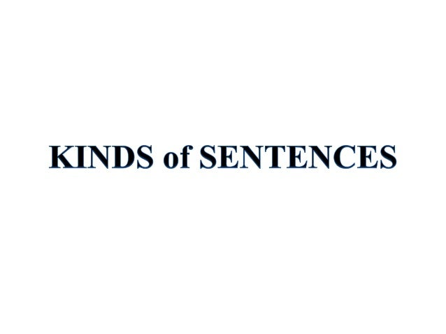 Kinds of sentence