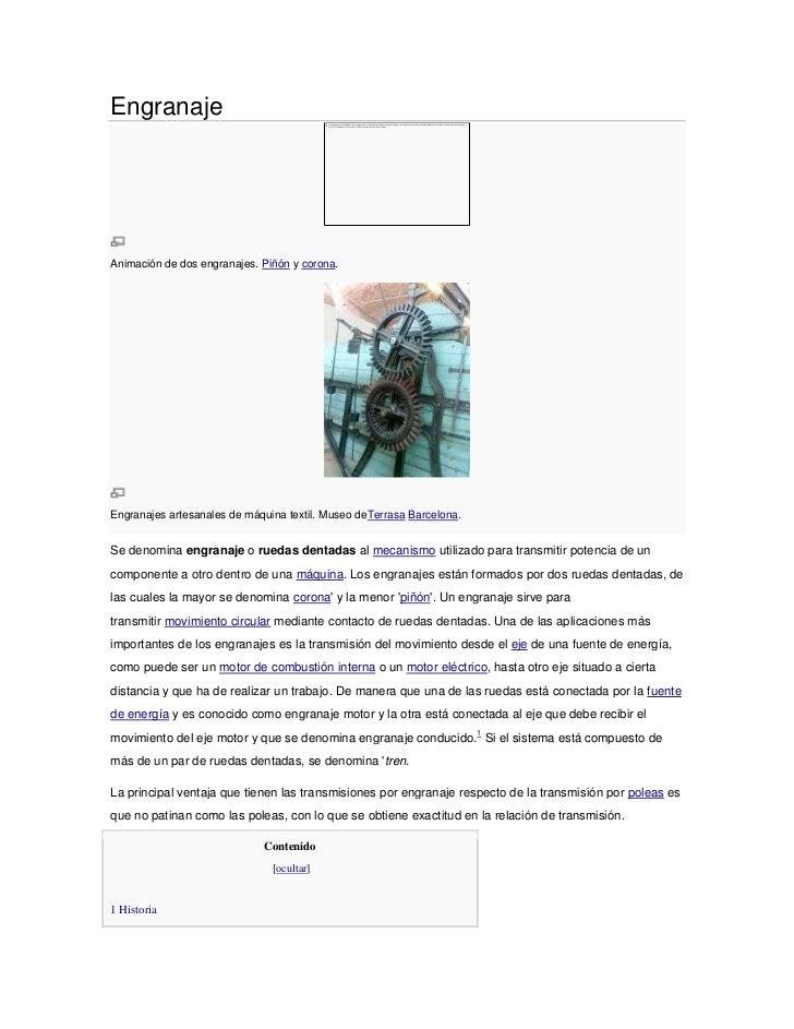 EngranajeAnimación de dos engranajes. Piñón y corona.Engranajes artesanales de máquina textil. Museo deTerrasa Barcelona.S...