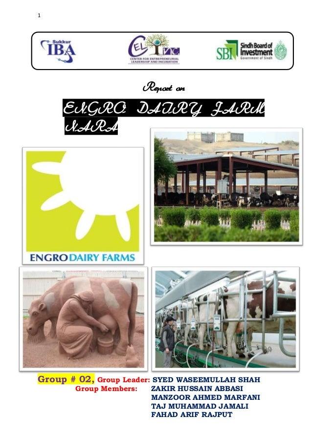 Engro dairy farm nara report