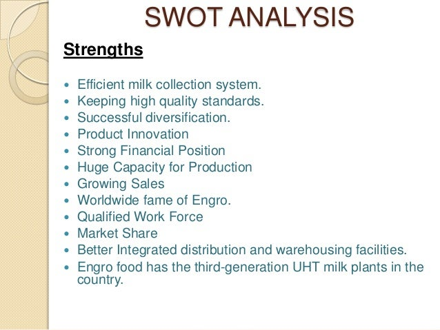 swot analysis for engro foods The first 20 templates are custom made by demplates for your use and the rest of them are collected from wide variety of sources  limitations of swot analysis.