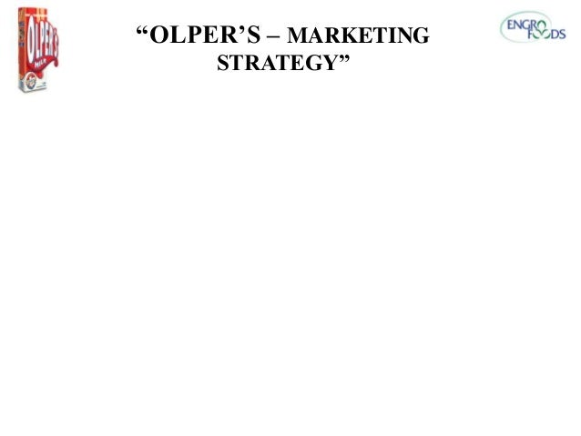 """OLPER'S – MARKETING STRATEGY"""