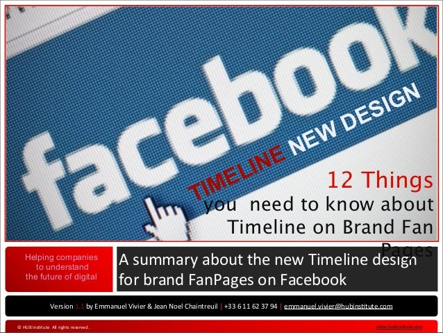 Facebook New Timeline for brand pages (english version)