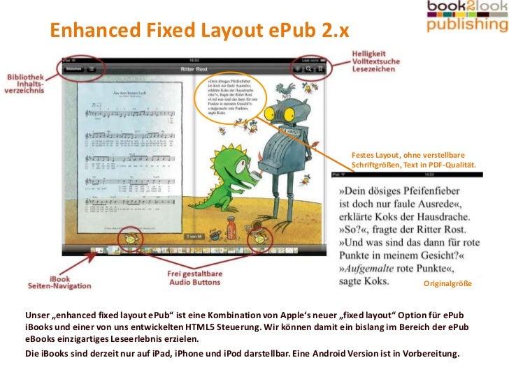 Enhanced Fixed Layout ePub 2.x<br />Festes Layout, ohne verstellbare Schriftgrößen, Text in PDF-Qualität.<br />Originalgrö...