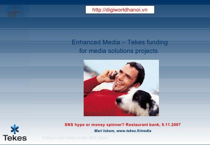 Enhanced Media – Tekes Funding For Media Solutions Projects