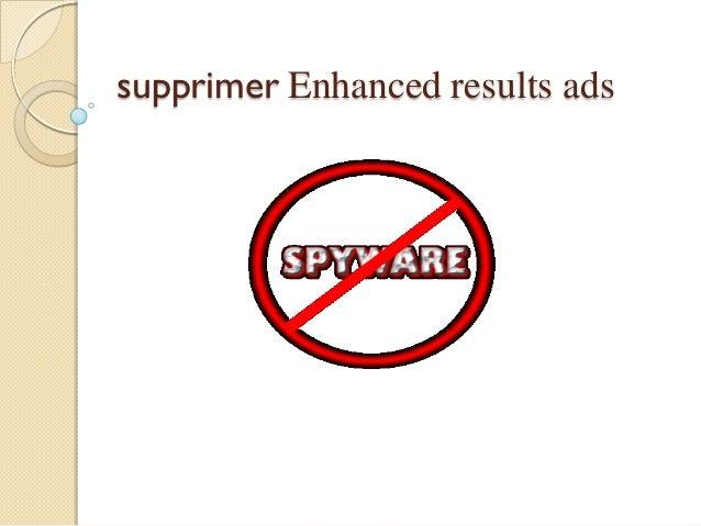 supprimer Enhanced results ads