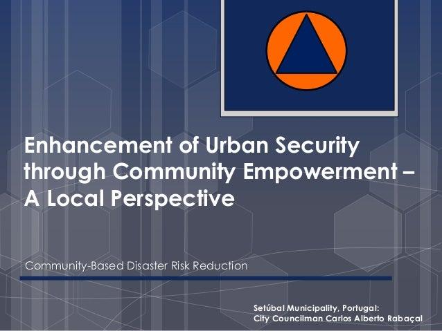 Enhancement of urban security