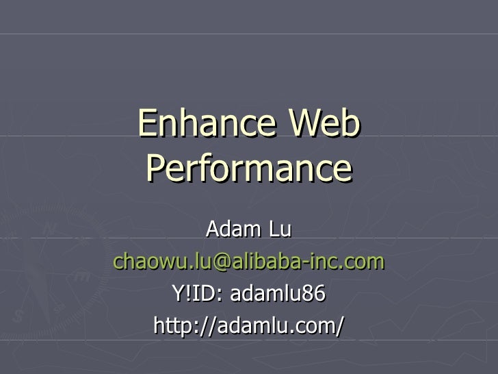 Enhance Web Performance