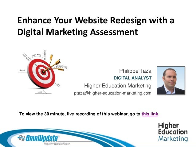 Enhance your website redesign with a digital marketing assessment