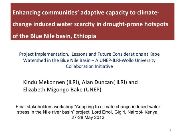 Enhancing communities' adaptive capacity to climate-change induced water scarcity in drought-prone hotspots of the Blue Nile basin, Ethiopia