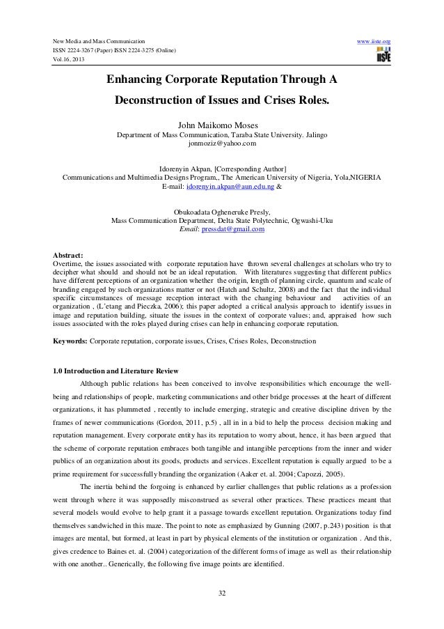New Media and Mass Communication www.iiste.org ISSN 2224-3267 (Paper) ISSN 2224-3275 (Online) Vol.16, 2013 32 Enhancing Co...