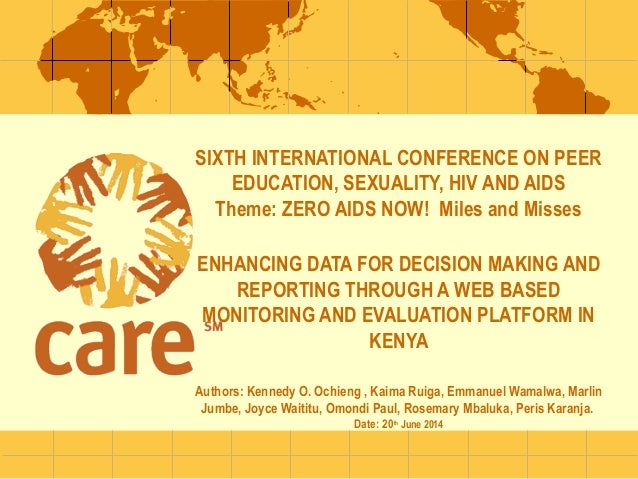 ENHANCING DATA FOR DECISION MAKING AND REPORTING THROUGH A WEB BASED MONITORING AND EVALUATION PLATFORM IN KENYA