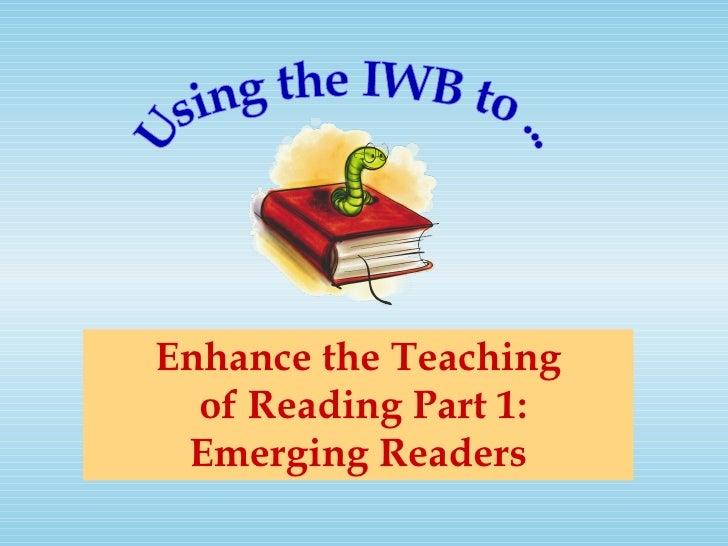 Enhancing reading 1