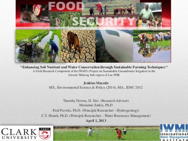"""""""Enhancing Soil Nutrient and Water Conservation through Sustainable Farming Techniques:""""A Field Research Component of the ..."""