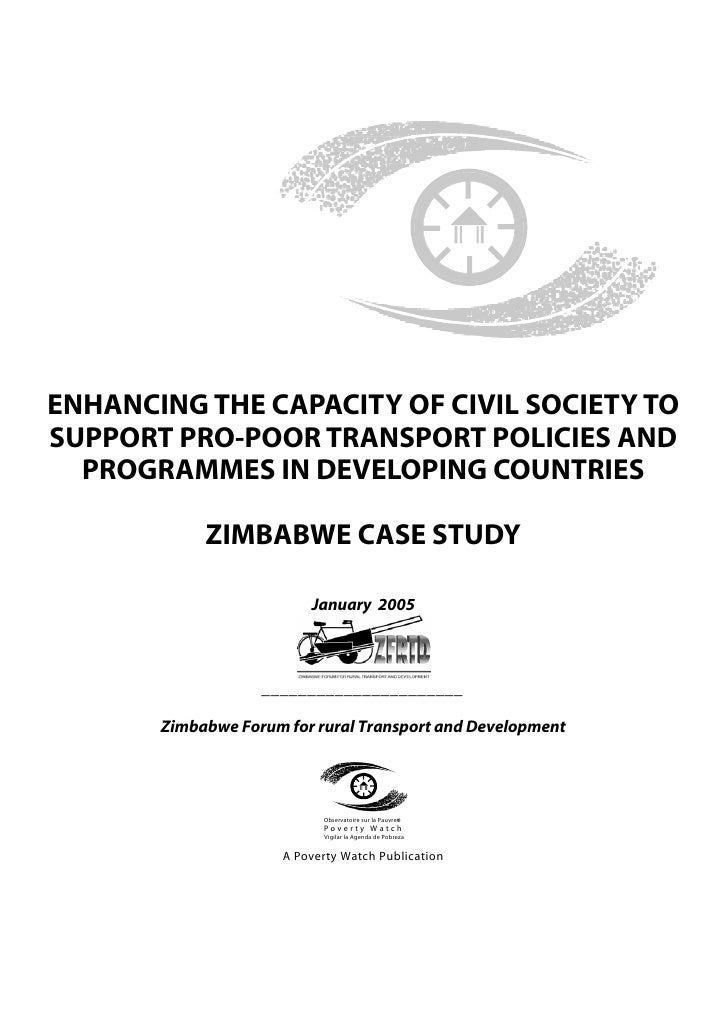 ENHANCING THE CAPACITY OF CIVIL SOCIETY TOSUPPORT PRO-POOR TRANSPORT POLICIES AND  PROGRAMMES IN DEVELOPING COUNTRIES     ...