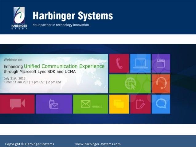 Enhancing Unified Communication Experience Through Microsoft Lync SDK and UCMA