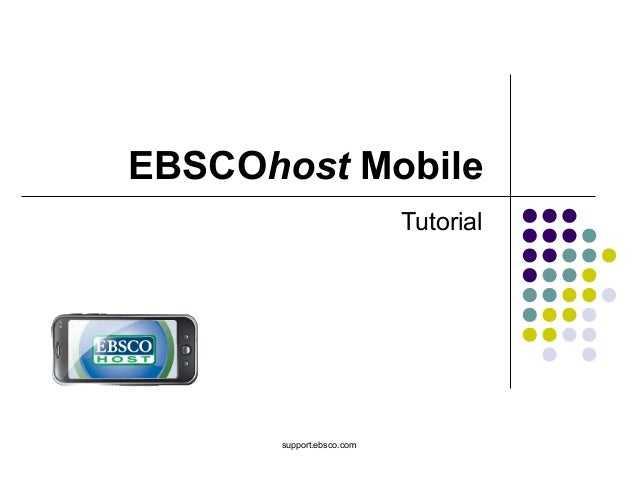 EBSCOhost Mobile Tutorial