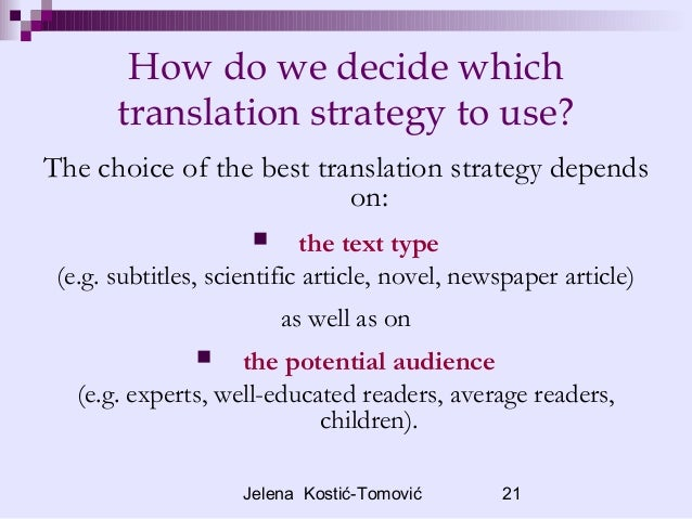 How to decide what is the best translation?