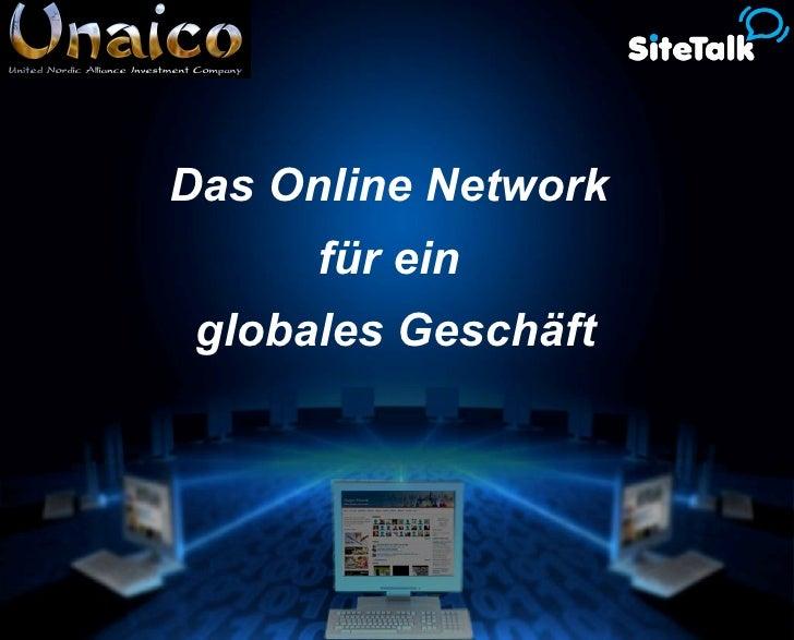 Das Online Network  für ein  globales Geschäft