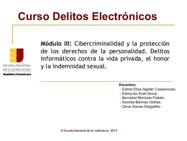 ENJ-1-337: Presentación Módulo III Curso Delitos Electrónicos (1)