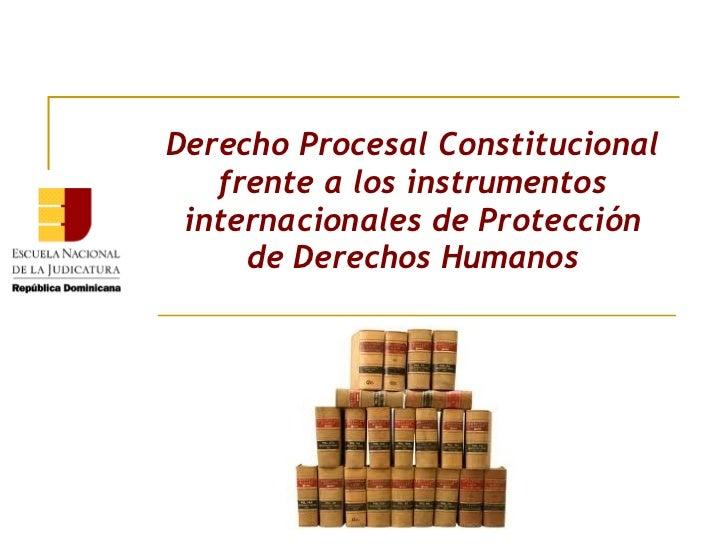 Derecho Procesal Constitucional   frente a los instrumentos internacionales de Protección     de Derechos Humanos