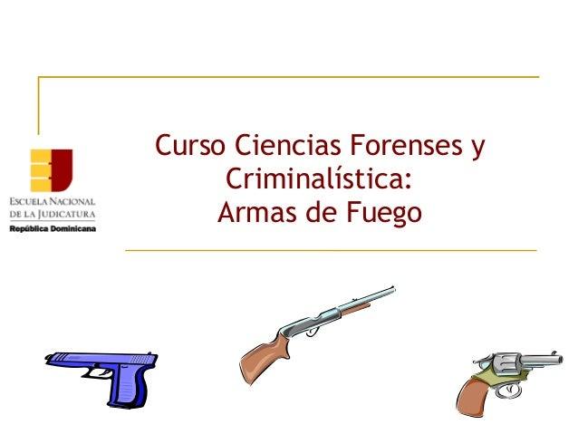 Curso Ciencias Forenses y Criminalística: Armas de Fuego