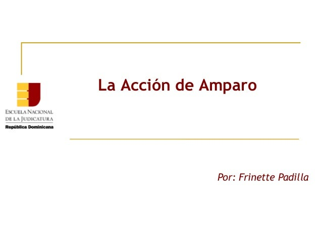 La Acción de Amparo              Por: Frinette Padilla