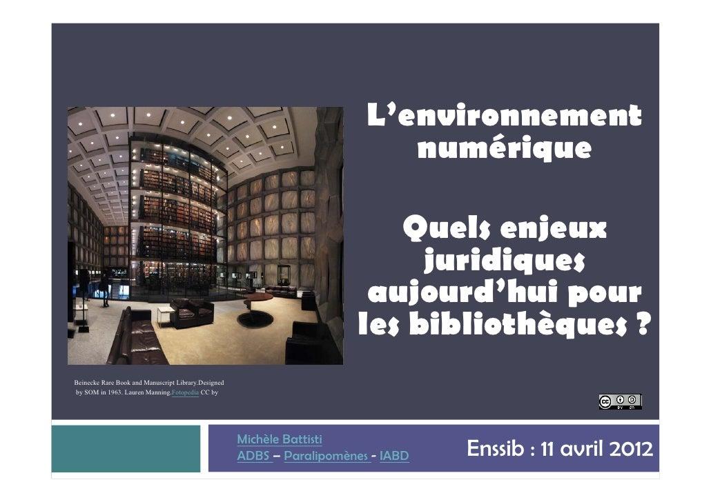 L'environnement                                                                            numérique                      ...