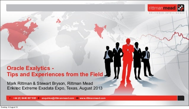 Oracle Exalytics - Tips and Experiences from the Field (Enkitec E4 Conference 2013, Dallas)