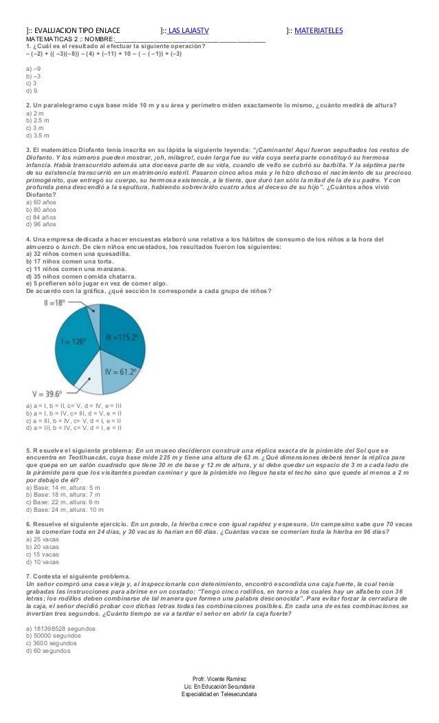 ENLACE: Matemáticas 2