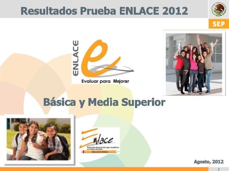 Resultados de ENLACE 2012