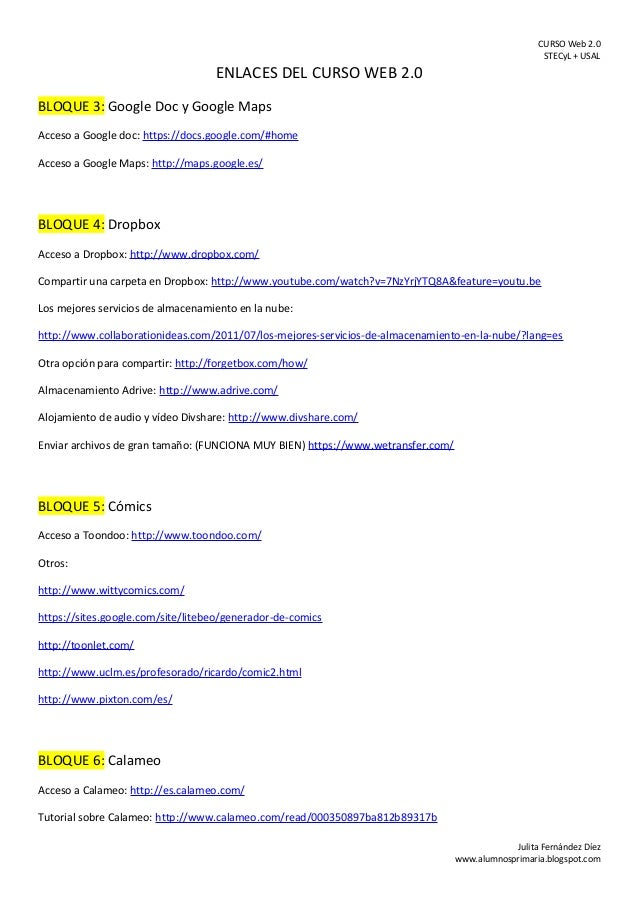 Enlaces del curso web 2