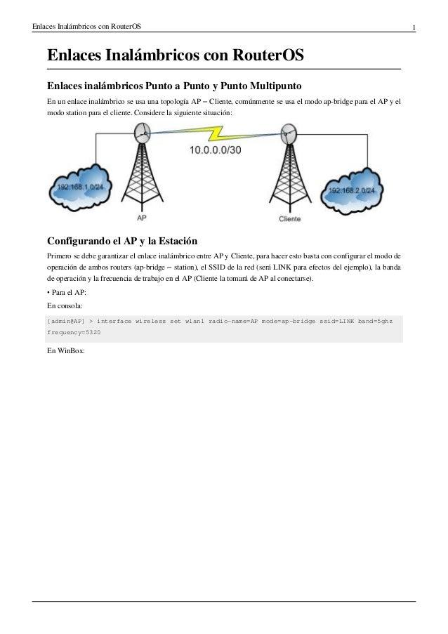 Enlaces inalámbricos con Mikrotik