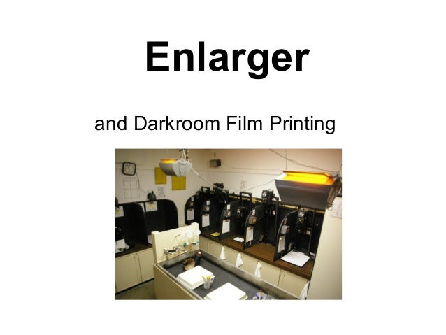 Enlarger and Darkroom Film Printing