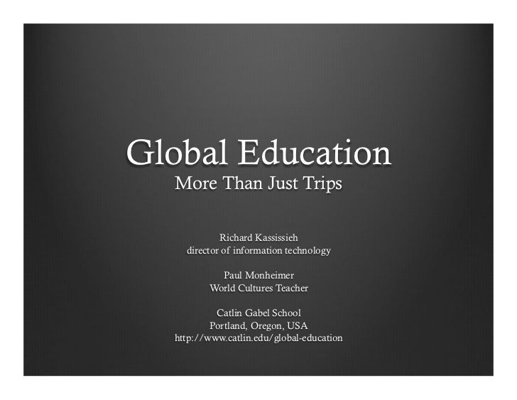 Global Education: More Than Just Trips