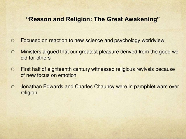 enlightenment and the great awakening essay In the essay concerning human understanding locke proposed that the mind is born blank in evaluating the great awakening and the enlightenment.