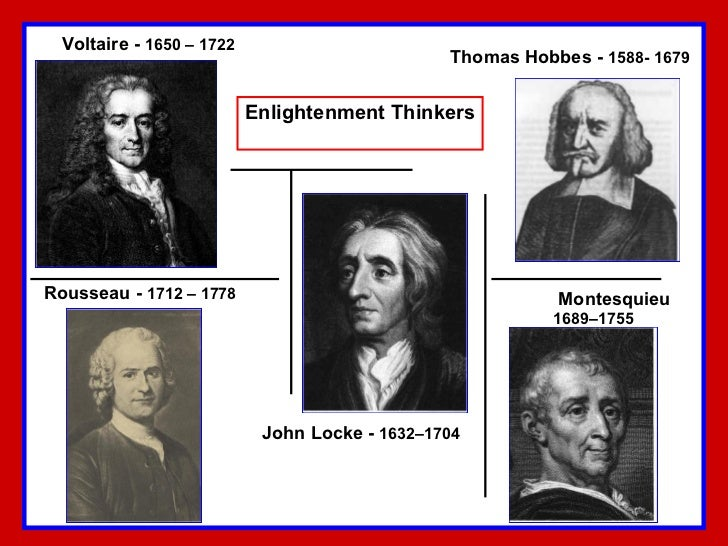 Who are some major philosophers during the Enlightenment?