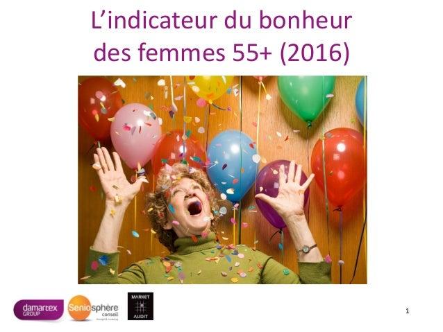 L'indicateur du bonheur des femmes 55+ (2016) 1